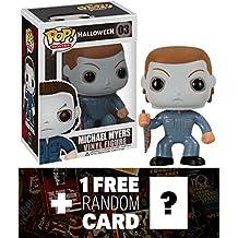 Michael Myers: Funko POP! Horror Movies x Halloween Vinyl Figure + 1 FREE Classic Sci-fi & Horror Movies Trading Card Bundle [22963]