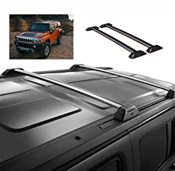 06 07 08 09 10 Hummer H3 OE Style Roof Rack Cross Bars Set W/ Lock H3T Luggage