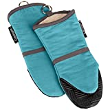 Cuisinart Puppet Oven Mitt with Silicone Grip, Aqua, 2-Pack