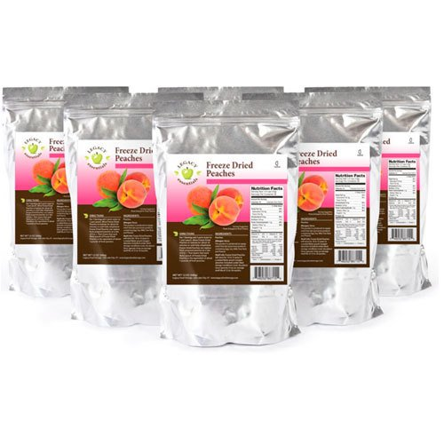 Legacy Essentials Freeze Dried Peaches - 15 Year Shelf Life for Emergency Prepper Food Storage Supply - Bulk Ingredients (Quantity 6 In Bucket)