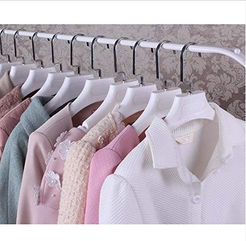 ganjue Gruccia per Vestiti di Plastica Bianca Spessa Larga Spalla per LIndumento dei Cappotti