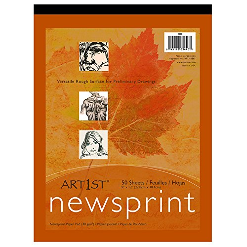 PAC3440 - Pacon Art1st Newsprint Pads (Recycled Newsprint Drawing Paper)