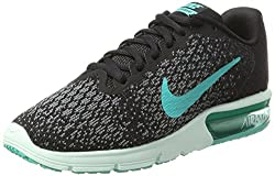 Nike Women's Air Max Sequent 2 Blackclear Jade Anthracite Running Shoe 7 Women Us