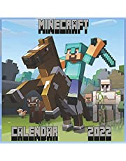"""Minecraft Calendar 2022: Monthly Colorful Minecraft Wall Calendar 2021 8,5"""" x 8,5"""" , Gift For Minecraft Gamers Lovers!"""