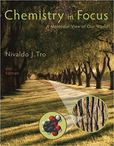 chemistry in focus a molecular view of our world nivaldo j tro amazoncom books