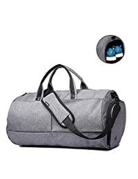 """Gym Bags 22L Sports Duffels Bag Waterproof Travel Luggage Cross Body Bags with Shoes Compartment for 17"""" Laptop Come with a Phone Sticker (gym bag)"""