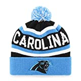 NFL Carolina Panthers Jasper OTS Cuff Knit Cap with Pom, Black, One Size