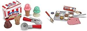 Melissa & Doug Ice Cream Scoop Set & Cookie Set Bundle