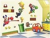 [ CG ] Wall Stickers Super Mario Luigi Yoshi