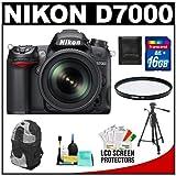 Nikon D7000 16.2 MP Digital SLR Camera and 18-105mm VR DX AF-S Zoom Lens with 16GB Card + Filter + Backpack Case + Tripod + Accessory Kit, Best Gadgets