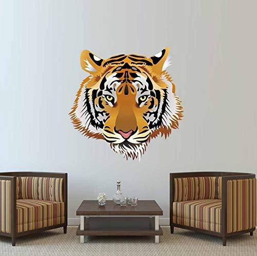 - TWJYDP Wall Sticker Wallstickers Wild Animal Big Tiger Head Wall Sticker Vinyl 3D Tiger Wall Decal DIY Art Mural for Living Room Vintage Home Decor 36X36Cm