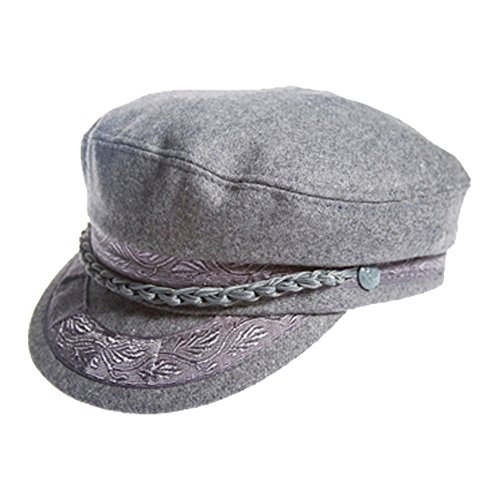 (Authentic Greek Fisherman's Cap - Wool - Grey - Size 60 - (7)