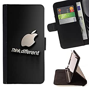 - Think Different/ Personalizada del estilo del dise???¡¯???¡Ào de la PU Caso de encargo del cuero del tir???¡¯????n del s - Cao - For Samsung Galaxy S4 I