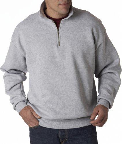 Jerzees Men's NuBlend Super Sweats Fleece Crewneck Sweatshirt, Ash, XX-Large ()