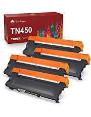 Toner Kingdom Compatible Toner-Cartridge Replacement for Brother TN450 TN-420 TN-450 TN420 for HL-2270DW HL-2280DW HL-2230 HL-2240 MFC-7360N MFC-7860DW DCP-7065DN Intellifax 2840 2940 (Black, 4 Pack)