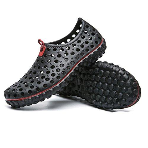 Tezoo Beach Schuhe, Sommer Herren Mesh Sandale Rutschfeste Super Soft Leicht Für Hausgarten Outdoor Sports Wandern Schwarz