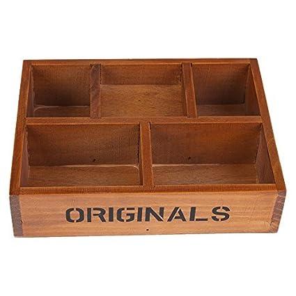 Amazon.com: whitelotous 5 compartimentos caja de maceta de ...
