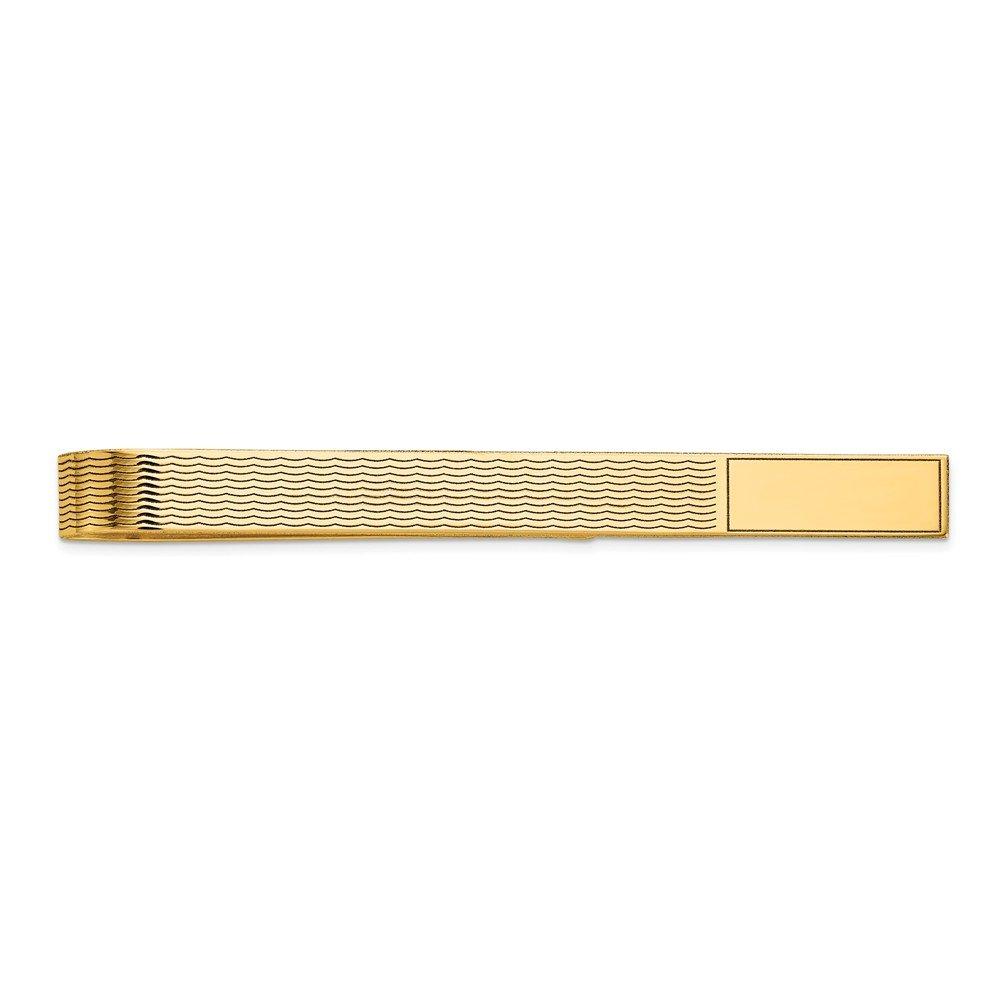 14K Yellow Gold Men's Accessory Tie Tacs/Tie Bars Solid 8 mm 48 mm Tie Bar