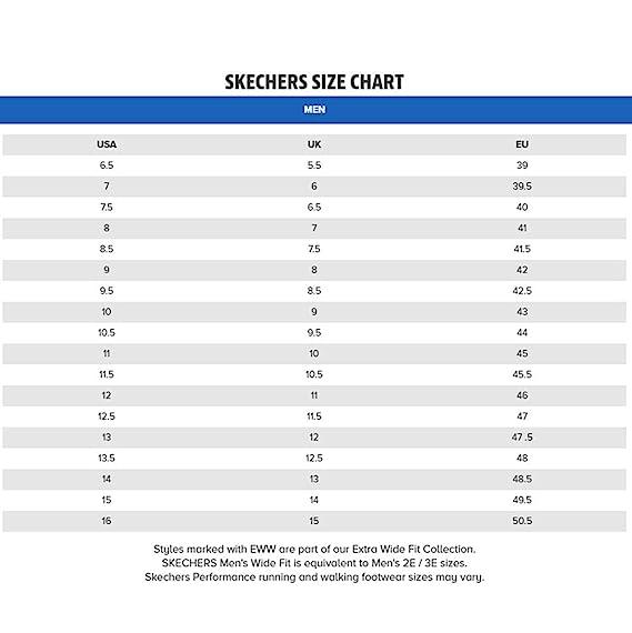 Skechers Shoe Size Chart | Chelss Chapman