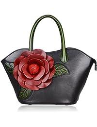Designer Purses and Handbags for Women Leather Satchel Flower Handbag (8825 8828)
