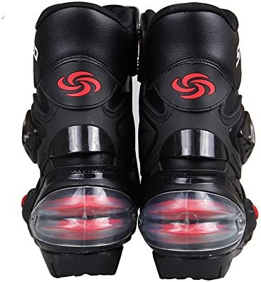 LKN Ankle Joint Protective Gear Motorcycle Boots Shoes for Riding Racing Black
