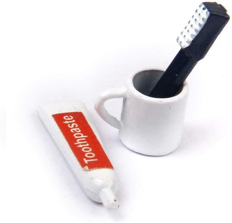 1//12 Dollhouse Miniature Bathroom Accessories Mini Toothbrush /& Toothpaste Set