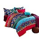 FADFAY 4-Piece Bohemian Bedding Boho Bedding Set Full Size