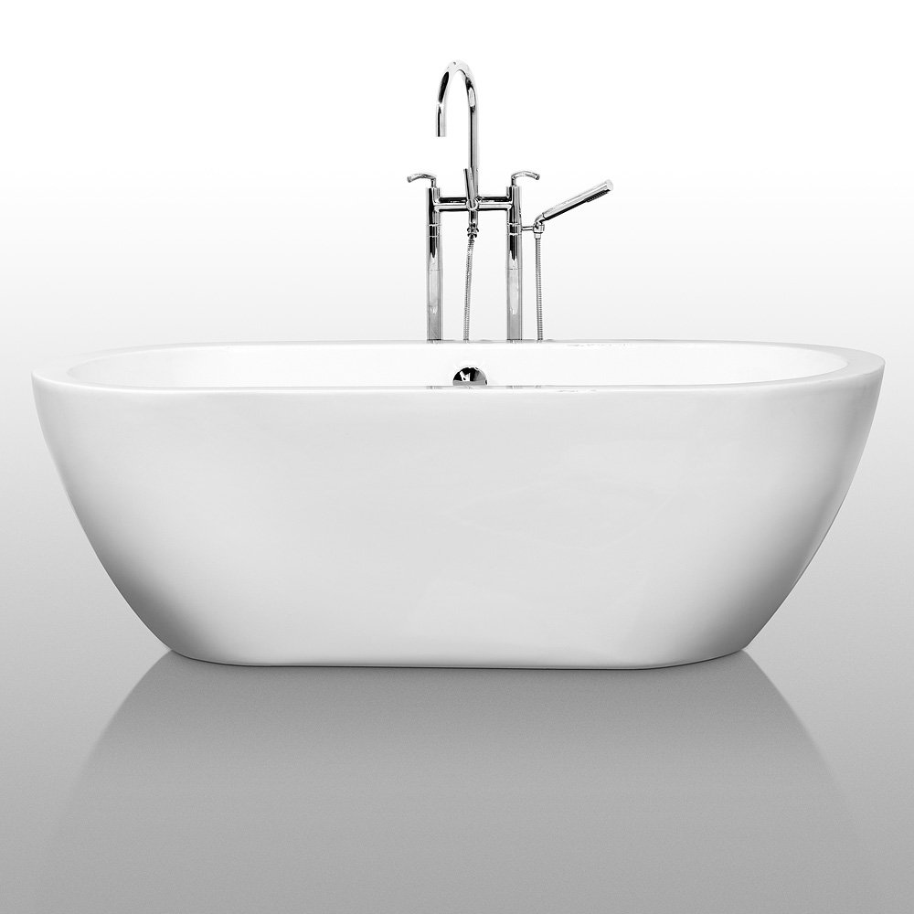 Wyndham Collection Soho 68 Inch Freestanding Bathtub For Bathroom In White  With Polished Chrome Drain And Overflow Trim   Freestanding Bathtubs    Amazon.com Part 56