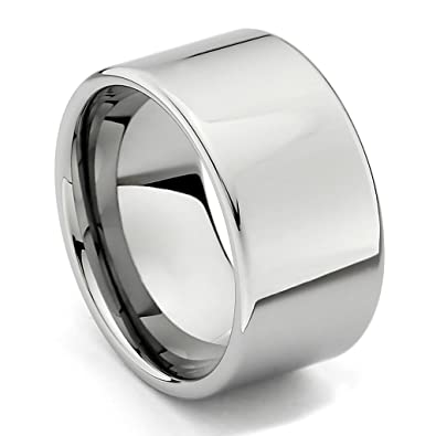12mm flat mens tungsten wedding band size 8 - Tungsten Wedding Ring
