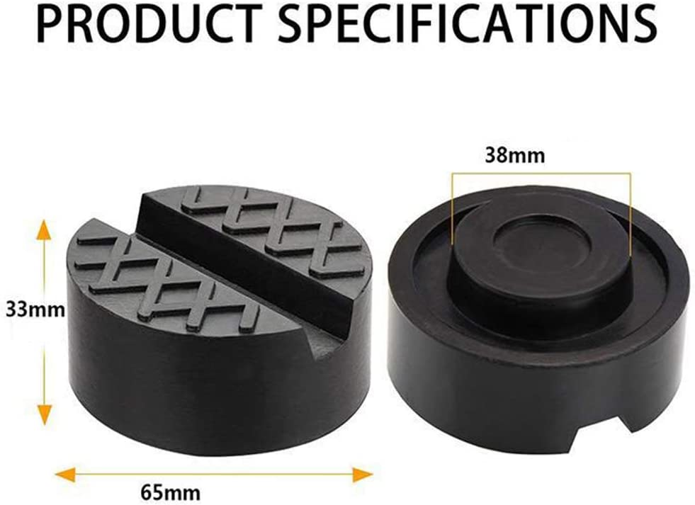 Universal usage Premium rubber Jack Pad for Trolley Jack- Vehicle Lift and Axle Stand MengRan 1 Pack Rubber Jack Pads Universal Slotted Frame Rail Protector Protects your Car