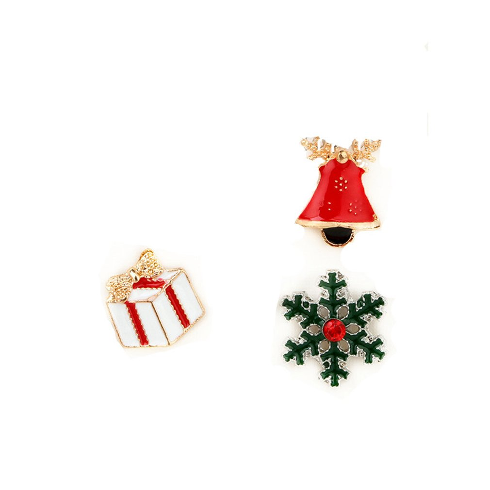 GUAngqi Christmas Brooch Pin Set Alloy Dripping oil Boot, Deer, Snowman, Christmas Tree, Gloves Christmas Jewelry Decor,Picture 2 by GUAngqi (Image #1)