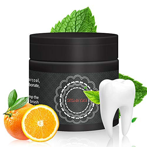 Activated Charcoal Teeth Whitening Powder Natural & Organic Coconut Powder Teeth Whitener Safe and Non-Irritating for Teeth Stain Removal,Whitening,Odor Dispelling or Strong Gums (59).