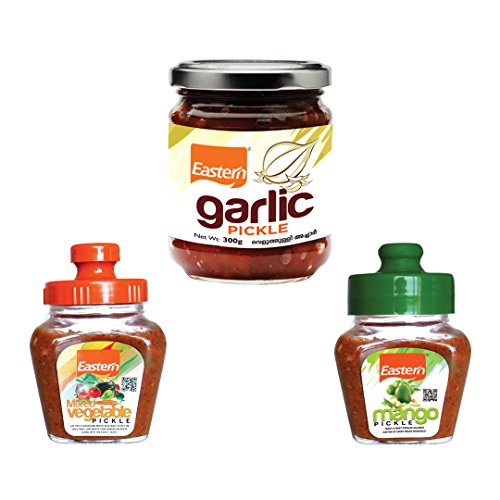 Eastern Garlic-300 g , Mixed Vegetable-300 g and Mango Pickle-100 g-Combo of 3
