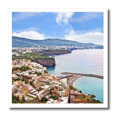 (3dRose ht_137772_3 Italy Tyrrhenian Sea Sorrento Gulf of Naples Eu16 Mgl0088 Miva Stock Iron on Heat Transfer for White Material, 10