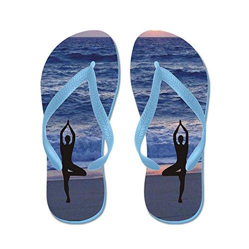 Cafepress Beach Yoga - Flip Flops, Grappige String Sandalen, Strand Sandalen Caribbean Blue