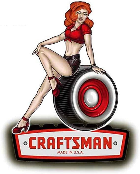 """1 5/"""" Craftsman Tools Saw Drill Decal Sticker Laminated! #3911"""