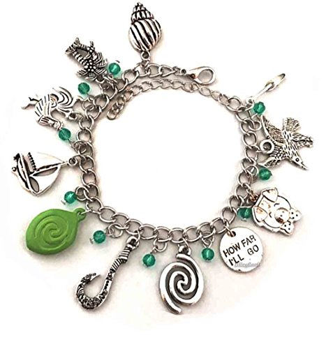 Disney Jewelry For Adults (Maui Hook Bracelet Gifts Moana Jewelry For Women - Disney Bracelet For Girls Womens)