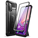 SUPCASE Unicorn Beetle Pro Series Designed for Samsung Galaxy S20 FE 5G Case (2020 Release), Full-Body Dual Layer Rugged Holster & Kickstand Case with Built-in Screen Protector (Black) (Color: Black)