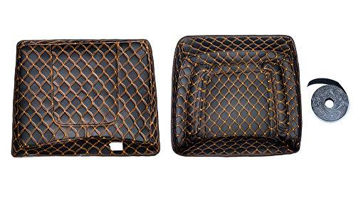 Razor Tour Pack Liner Touring Pak Inserts Fit for Advanblack Pizza Box Tour Pak(Orange Thread Stitching, Synthetic Leather, 1 Set) (Leather Tour Pack)