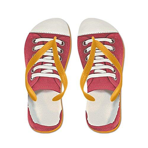 CafePress Sneaker - Flip Flops, Funny Thong Sandals, Beach Sandals Orange