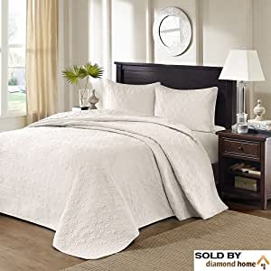 Amazon Com 3 Piece Oversized King Bedspread To The Floor