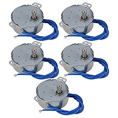 CNBTR TYC-50 5-6 RPM AC110V CW/CCW Synchronous Electric Motor with 7mm Shaft Dia Set of 5