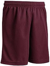Joe\'s USA - Youth Mesh Basketball Short (Maroon, Youth Small)