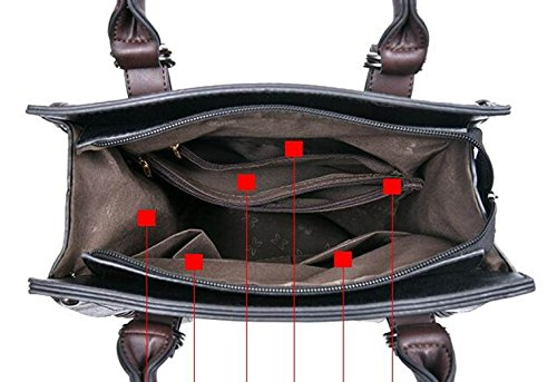 Office Ladies Bag Retro Bag Bags Women Pu Totes Network Shoulder Leather Handbags Bag 414wZPqH