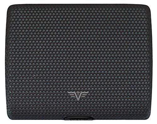 TRU VIRTU Wallet PAPERS & CARDS Leather (Diagonal Carbon Black)