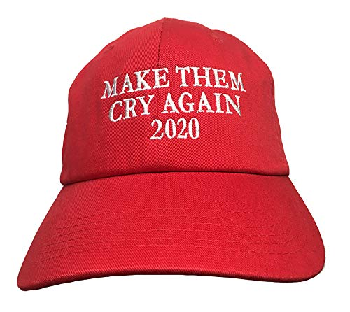 Make Them Cry Again 2020 - Red Embroidered Ball Cap