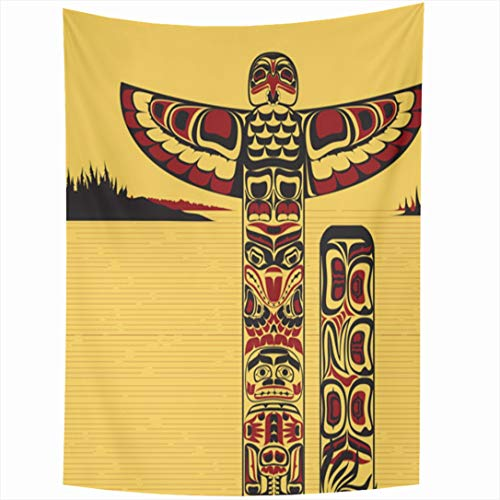 - Ahawoso Tapestry 60x90 Inch Craftsmanship Native Tribal North American Totem Red Pole Canada Ancient Northwest Indian Celebration Tapestries Wall Hanging Home Decor for Living Room Bedroom Dorm