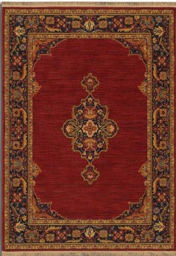 (Karastan English Manor CanterburyWoven Rug, 2'6x8', Brick Red)