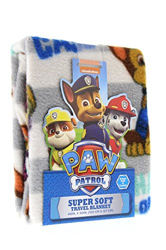 Paw Patrol Super Comfy & Soft Travel Blanket/Throw with Chase Is On The Case w/Stripes Design 40