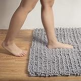 TPR Microfiber Bath Rugs 20''x32'', High Density Washable Bath Mats - Super Soft Bathroom Carpet, 2000GSM